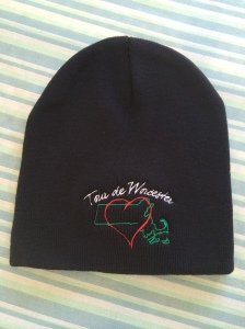 In addition to the bag o' applications, I also got this sweet hat. Looking forward to wearing it in the cooler weather!